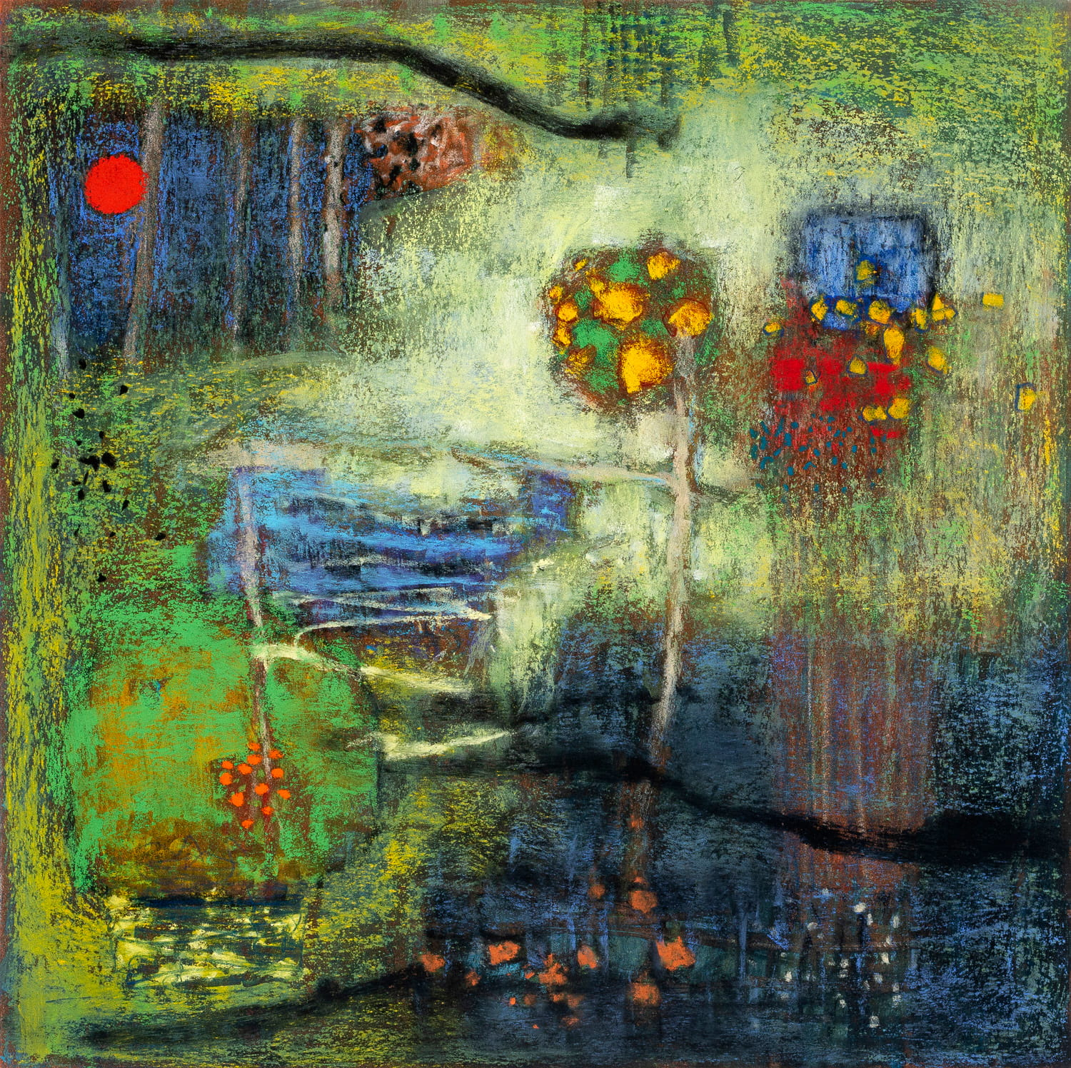 Provenance Within  | pastel on paper| 14 x 14"