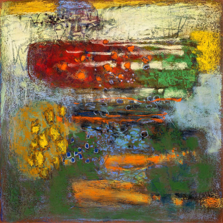 "Immeasurable Tendencies  | pastel on paper | 14 x 14"""