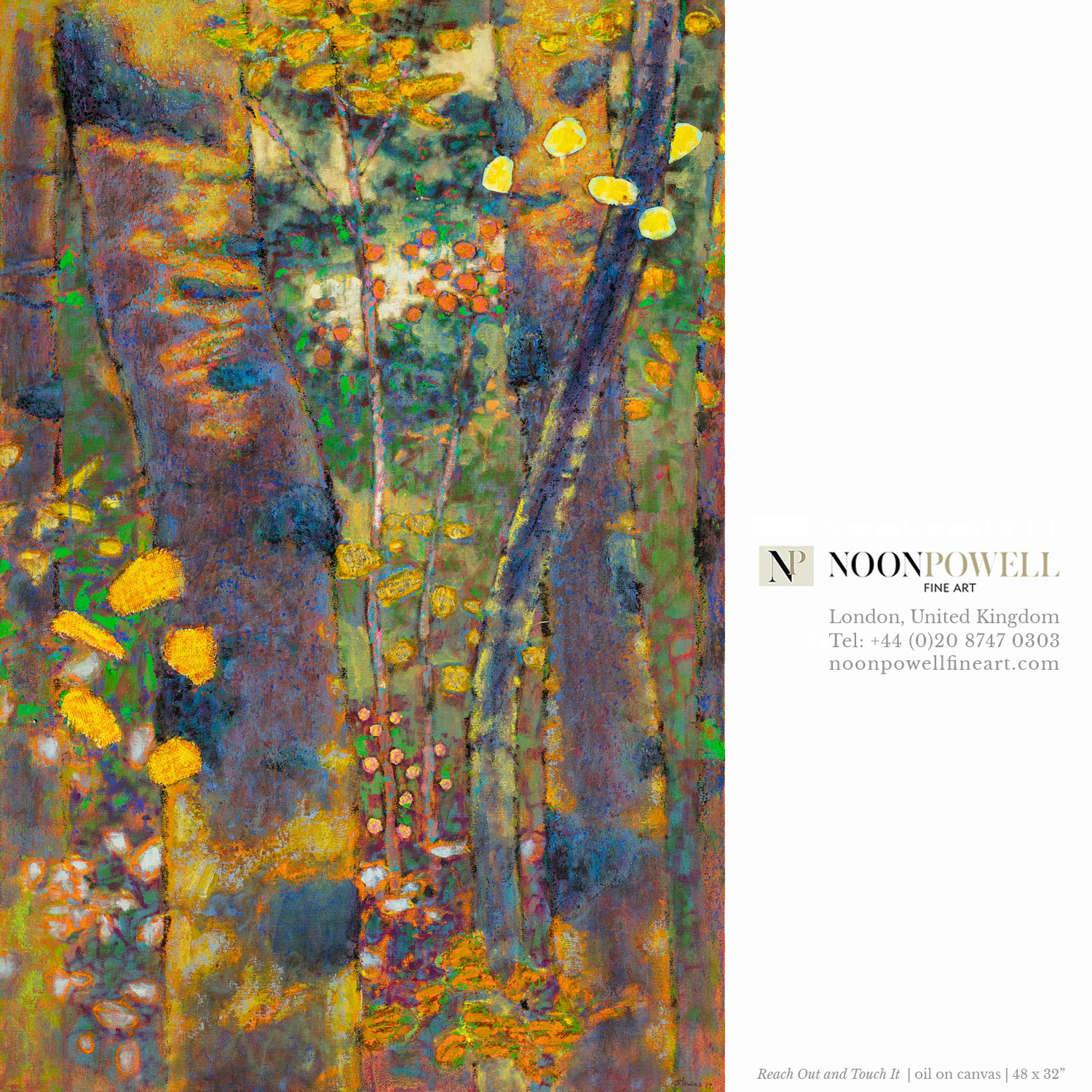 Rick's work will be represented at NoonPowell Fine Art in London, U.K.