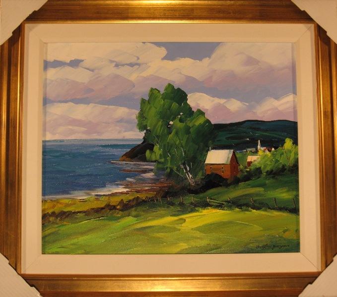 Christian Bergeron, huile sur toile, 20 x 24 po.