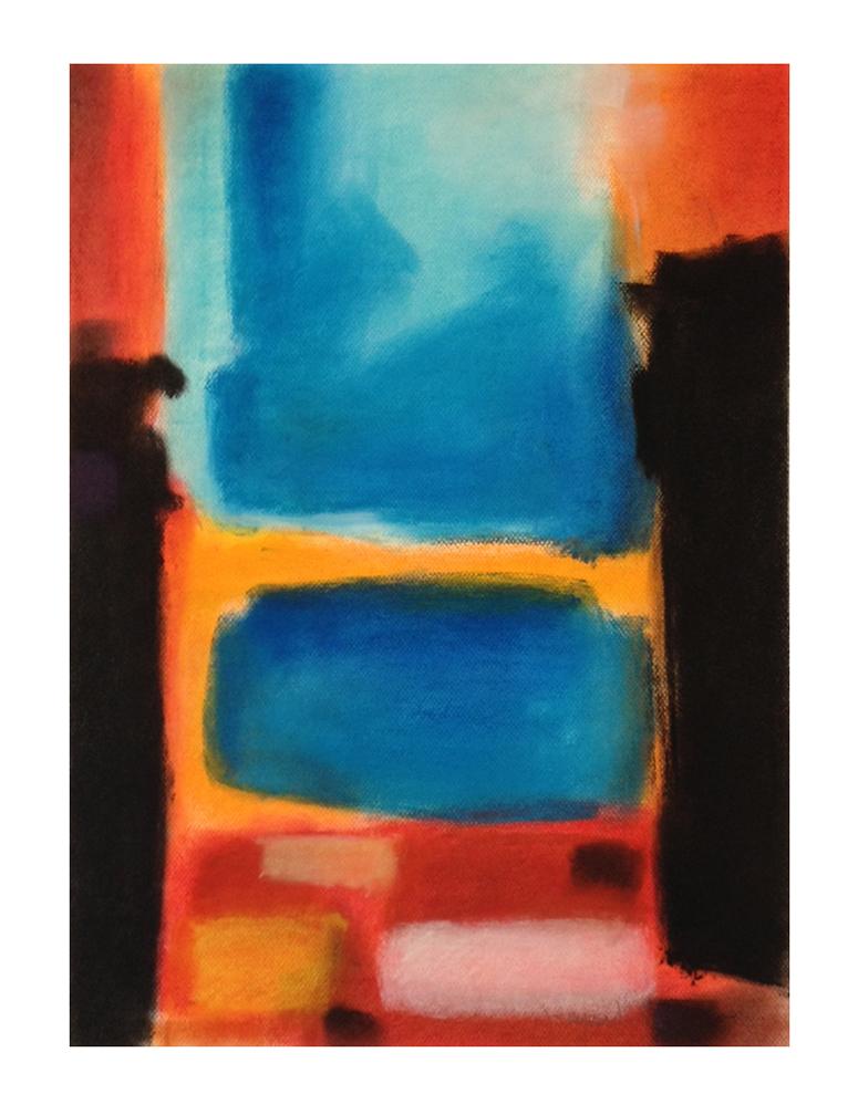 """""""essai #5"""", pastels secs sur papier, 65cm x 50cm, 2015"""
