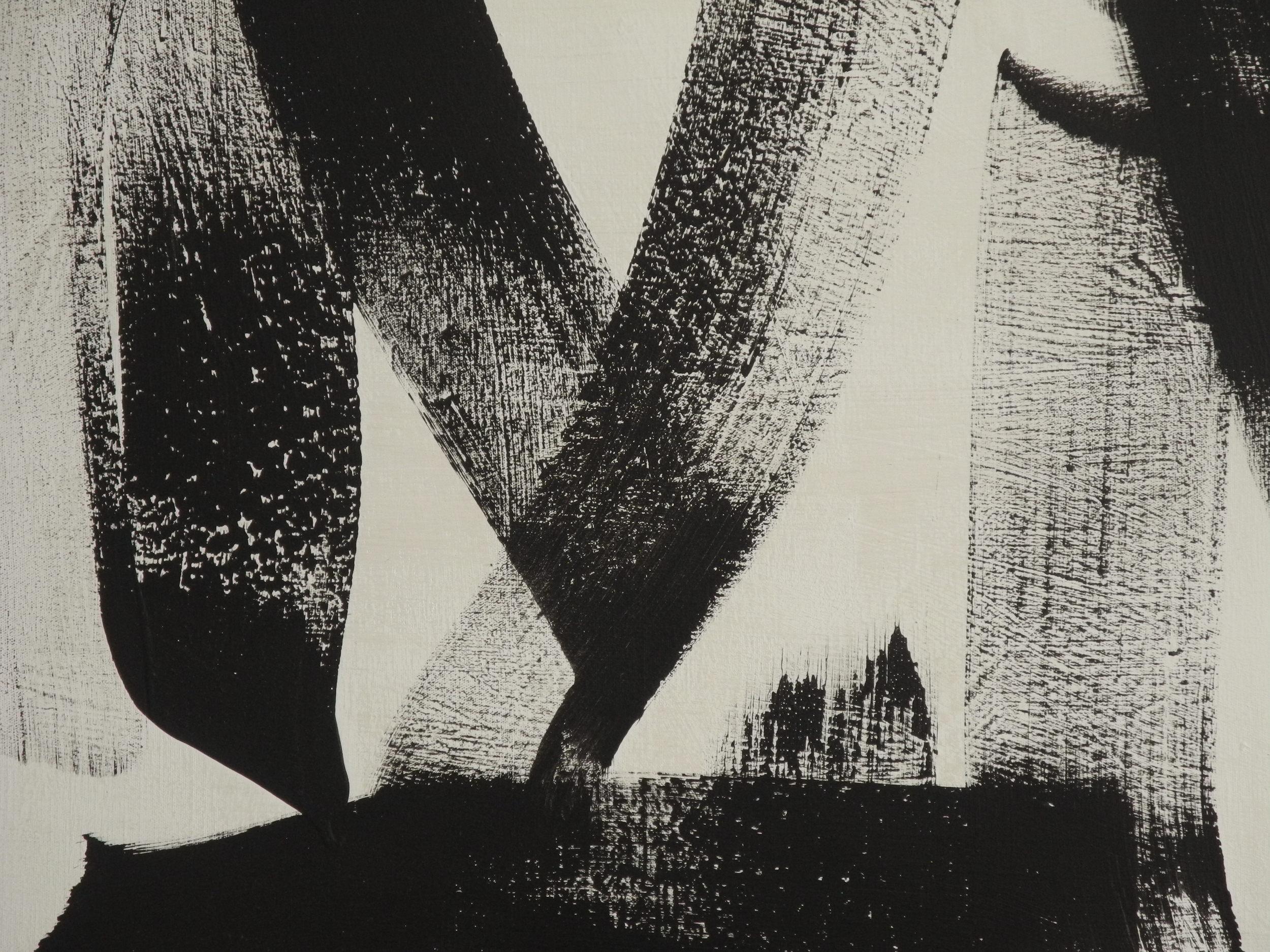 Frère Jérôme, Signe de vie (détail), acrylique sur toile, 1983. Photo Galerie Carte Blanche.