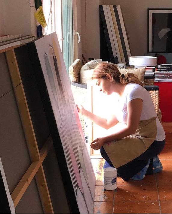Shereen Audi dans son studio à Amman.
