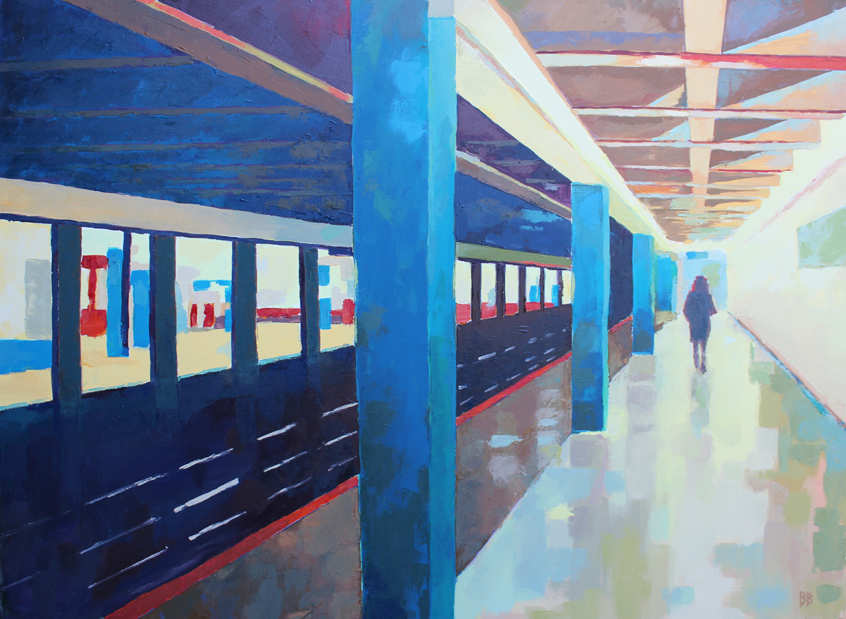 RED ON THE BLUE LINE