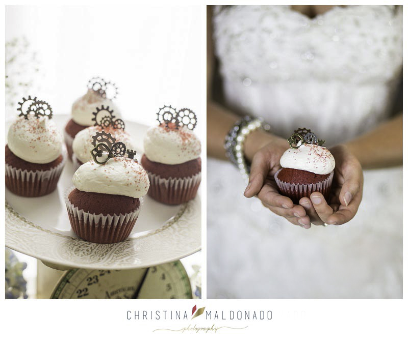 wedding cupcakes steampunk
