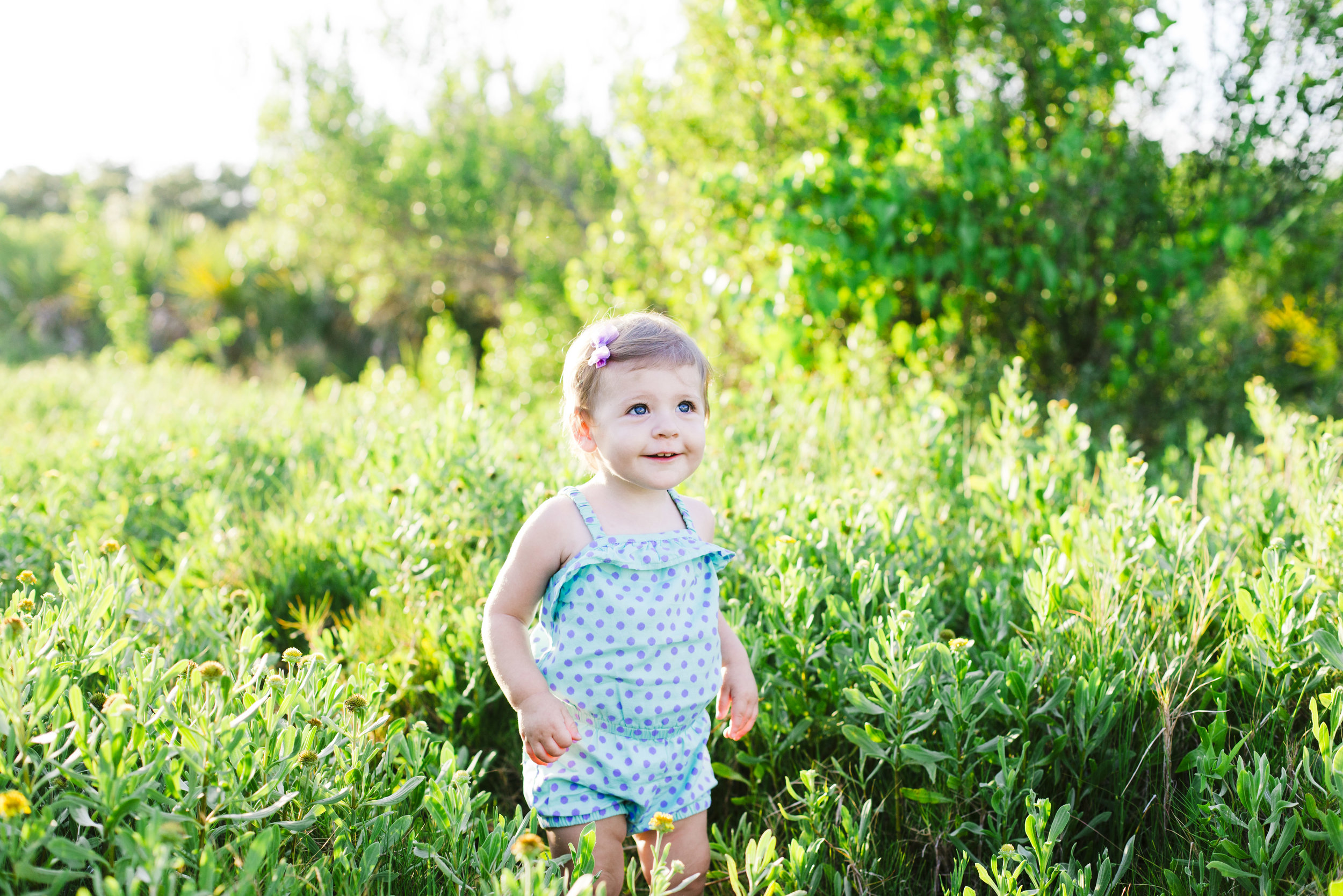 Toddler in flowers, Treasure Island Florida