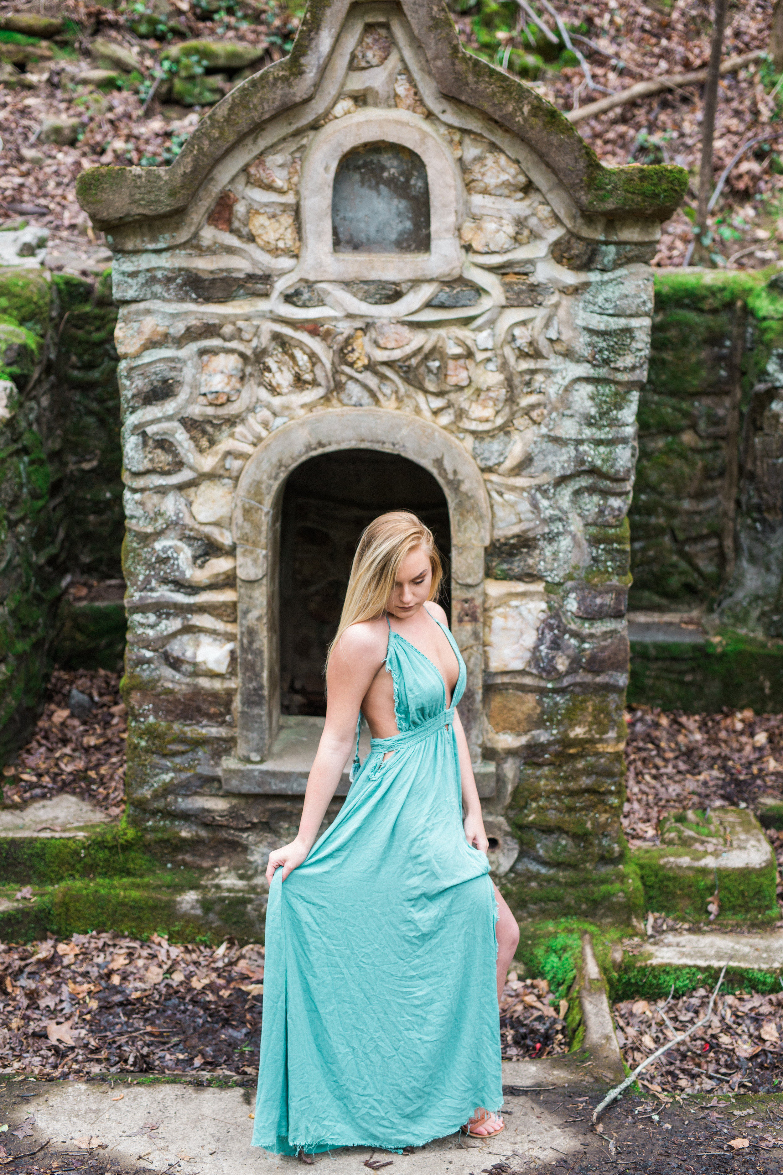 Turquoise Engagement Gown