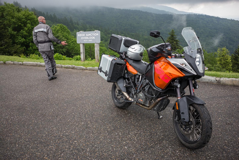 Dennis & His KTM. Mt. Mitchell, North Carolina 2015