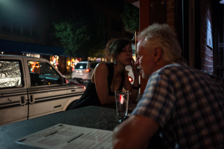English Man & Waitress. Asheville, North Carolina 2015