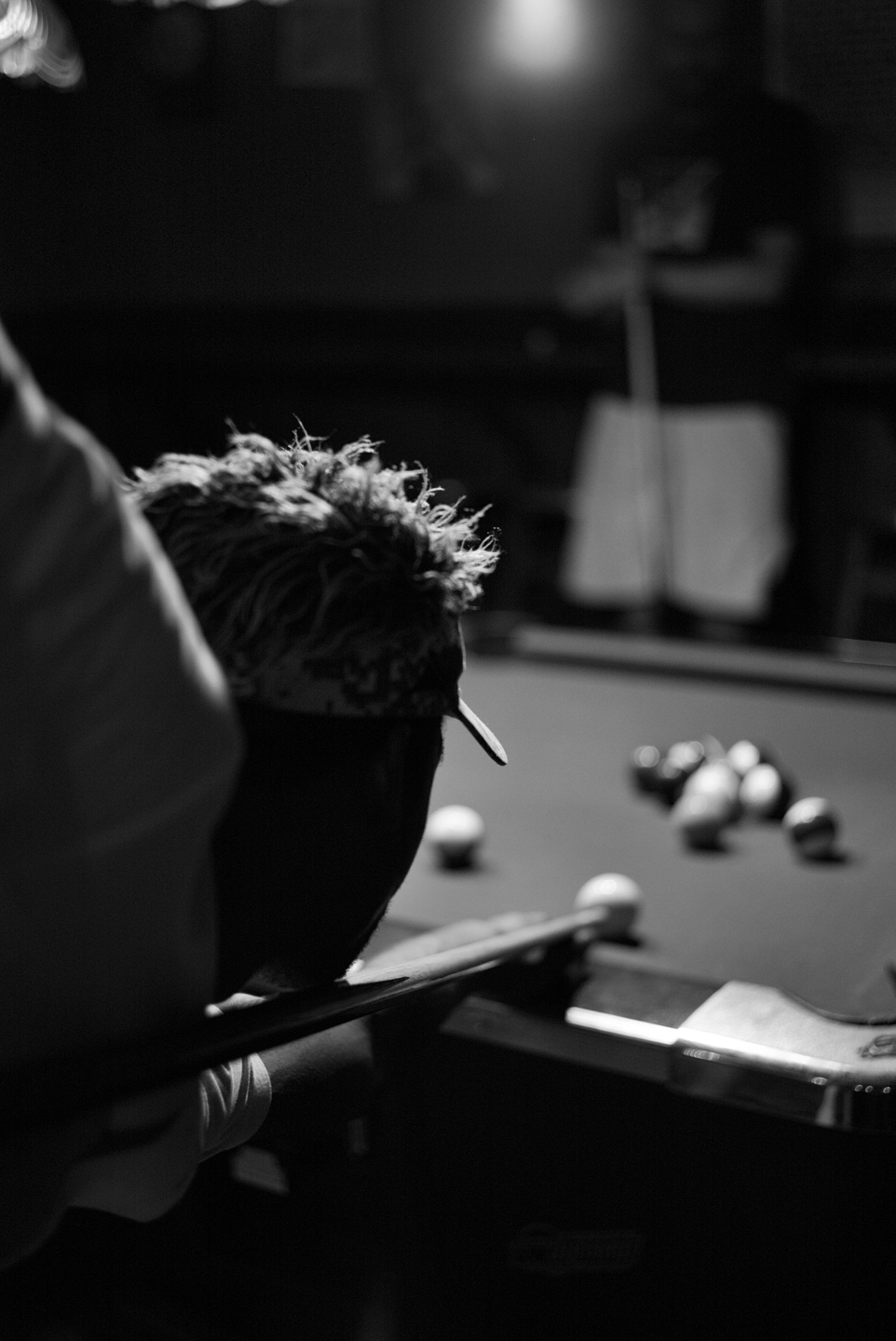 The Pool Player. Greenpoint, Brooklyn 2015