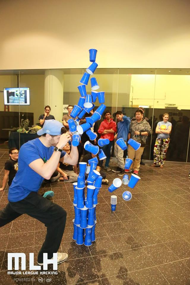 Midnight cup stacking competition