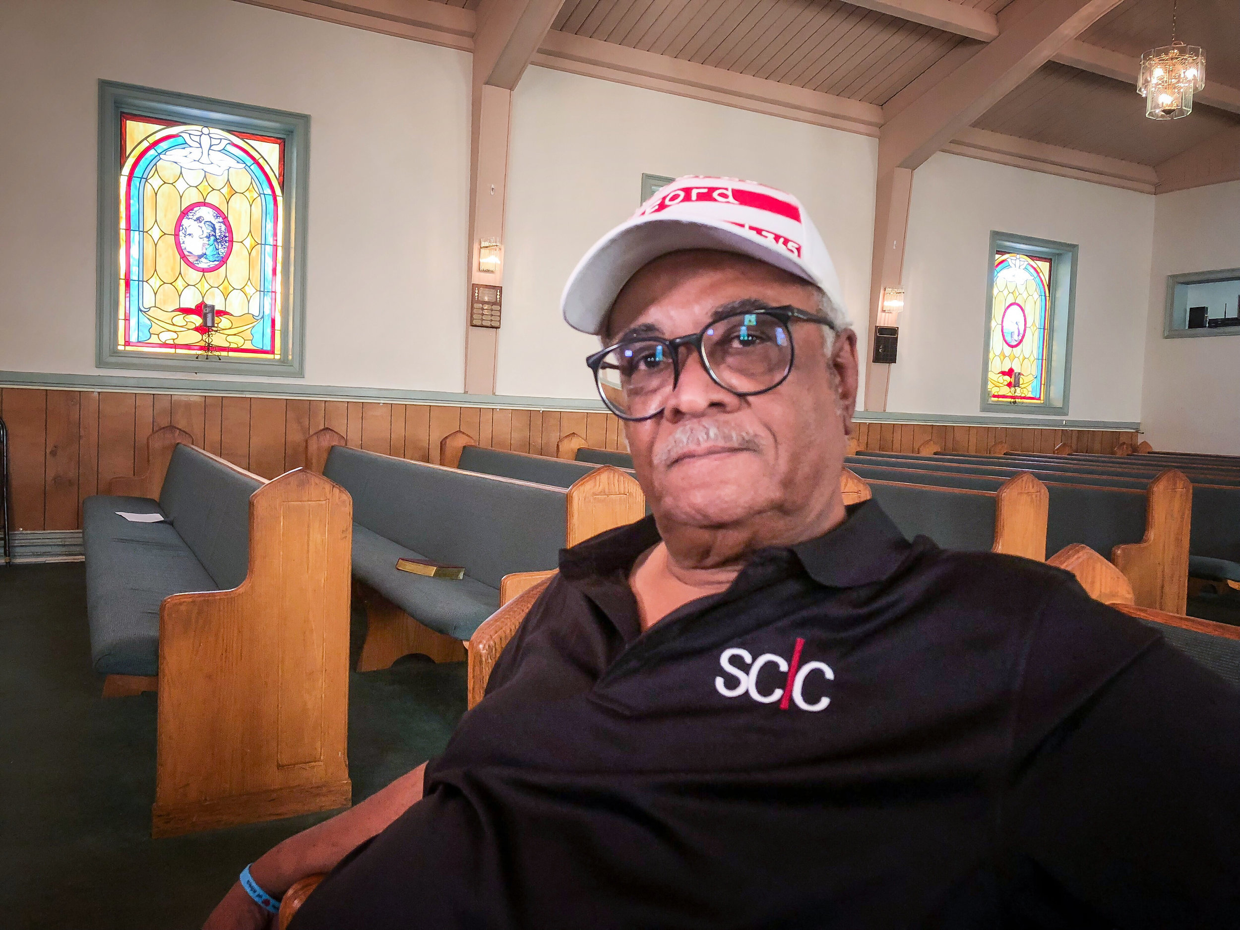 Tyrone Brooks, former Georgia state representative and honored member of the Southern Christian Leadership Conference, at First African Baptist Church in Monroe, GA. This is the site of commemoration portion of the annual Moore's Ford Lynching Re-enactment and a historically significant location for civil rights leaders' meetings in Walton County.