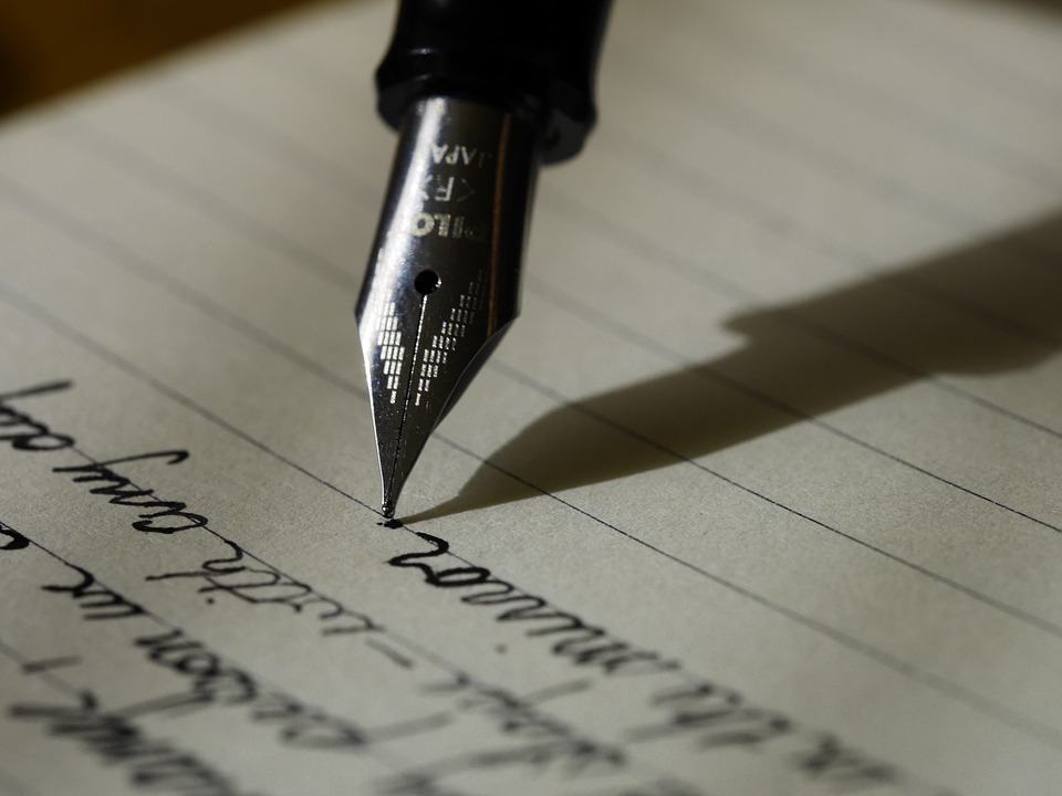 Being a writer doesn't necessarily mean fancy handwriting.