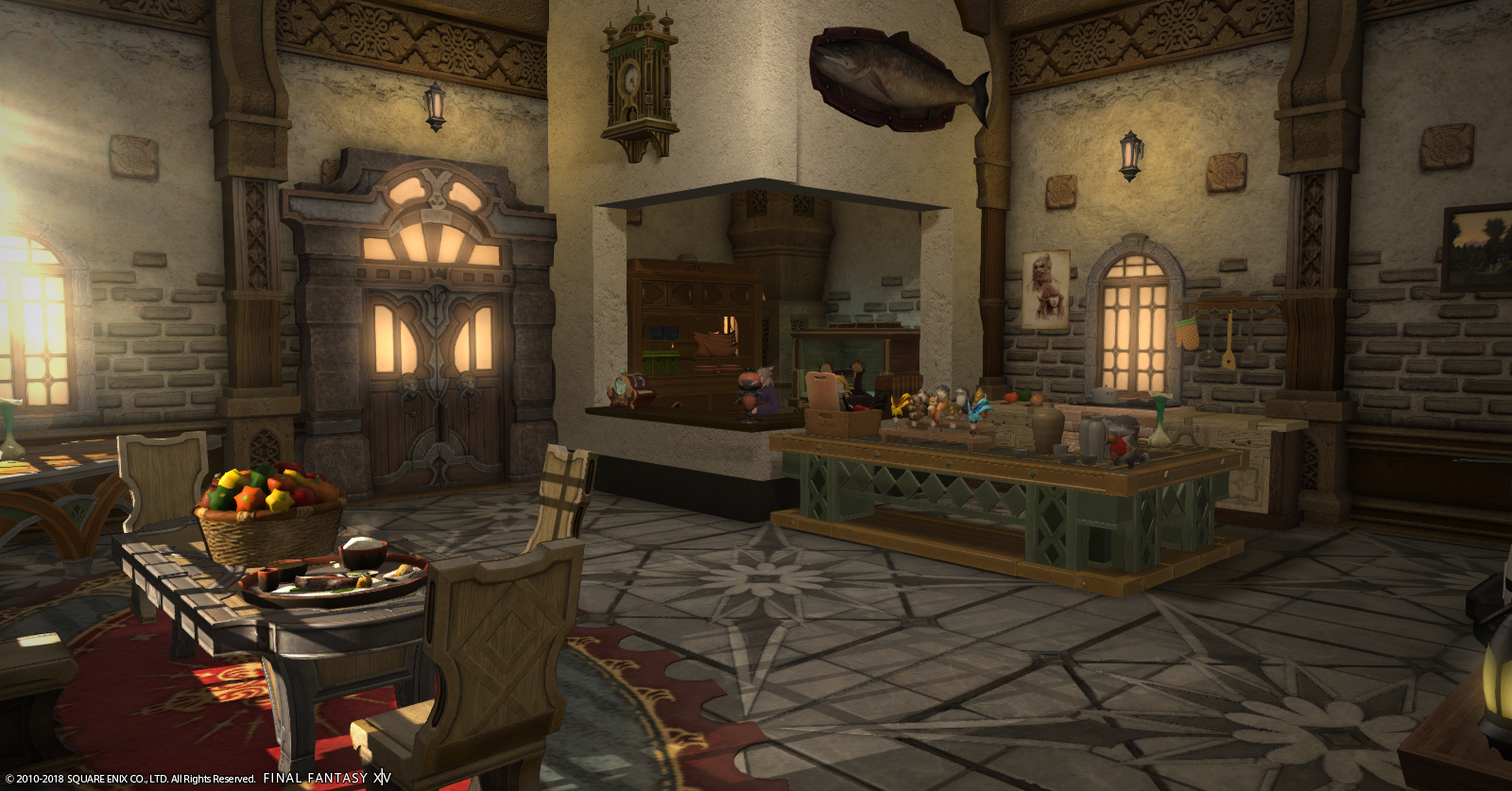 The Ground Floor to my FFXIV In-Game house. I turned it into a Cafe!