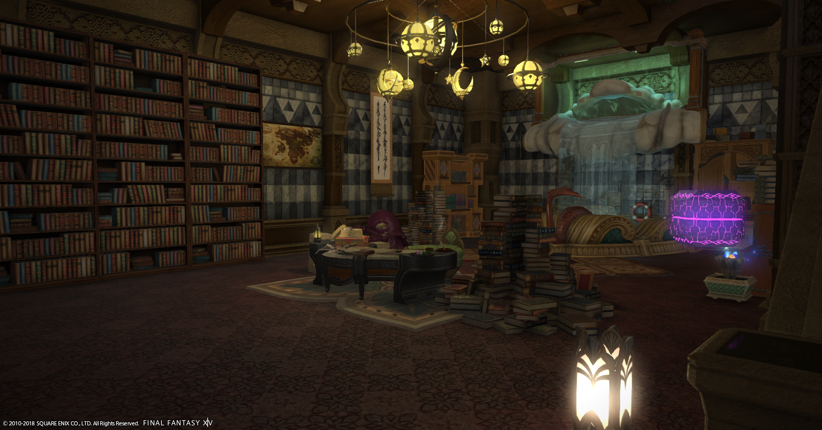 My In-Game study downstairs. I often let my avatar sit here while I write!