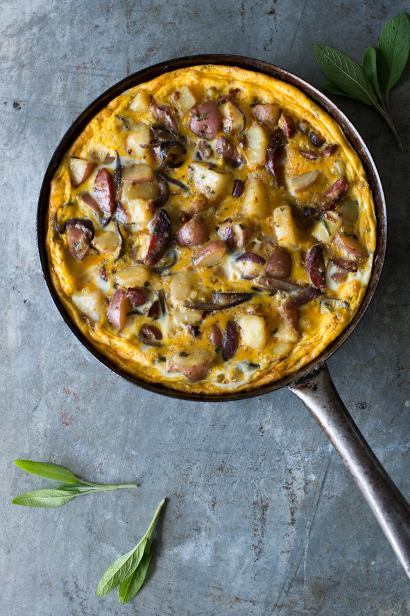 Potato, Chorizo & Sage Omelette