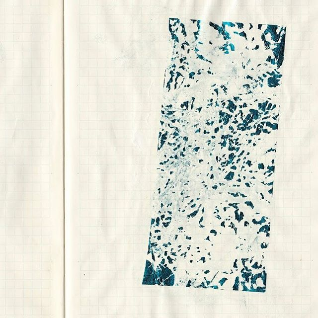 Sketchbook scan iv (surface test) • • • • • • • • #austinartist #sketch #ink #collage #mixedmediaart  #atxlife #foil #keepaustinweird #femaleartist #reflection #meditation #houstonartist #texasartist  #digitalart #atxartist #atx #sketchbook #markmaking #line #digitalcollage #surfacedesign #icomefromthewater