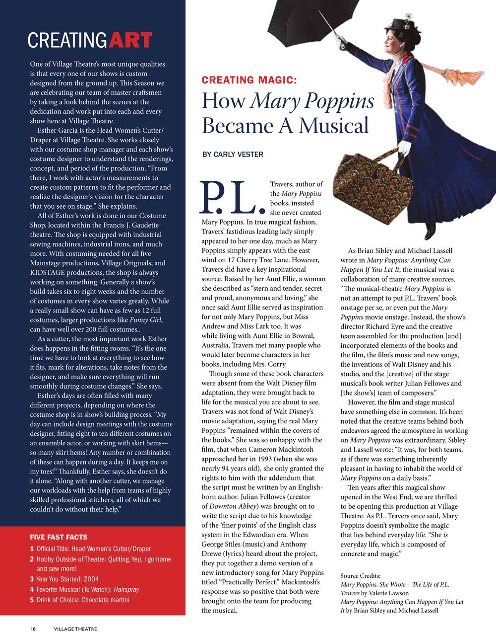 Mary Poppins Playbill