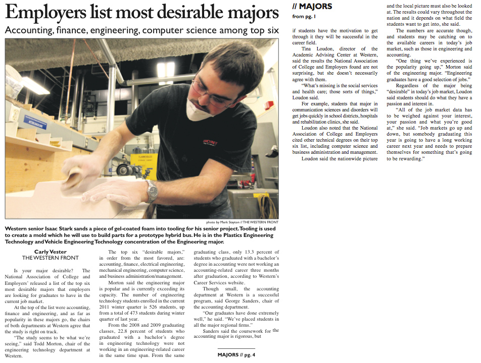 Employees list most desirable majors