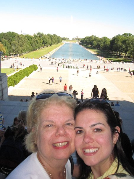 Mom and I in Washington D.C. in October 2010.