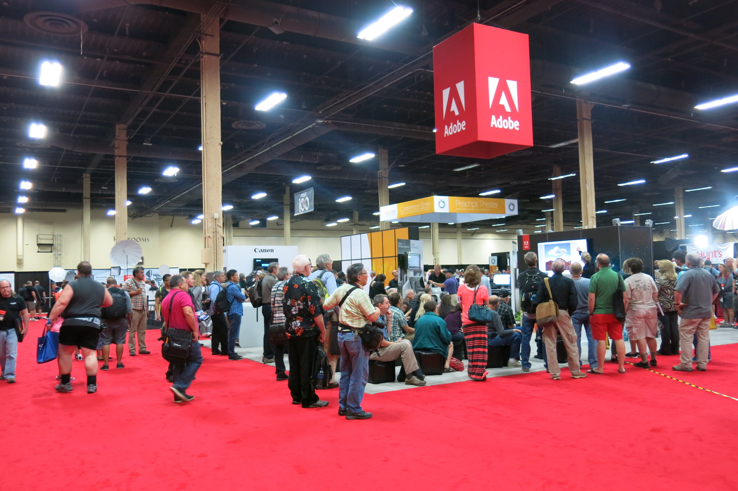 Adobe booth at the Expo floor.
