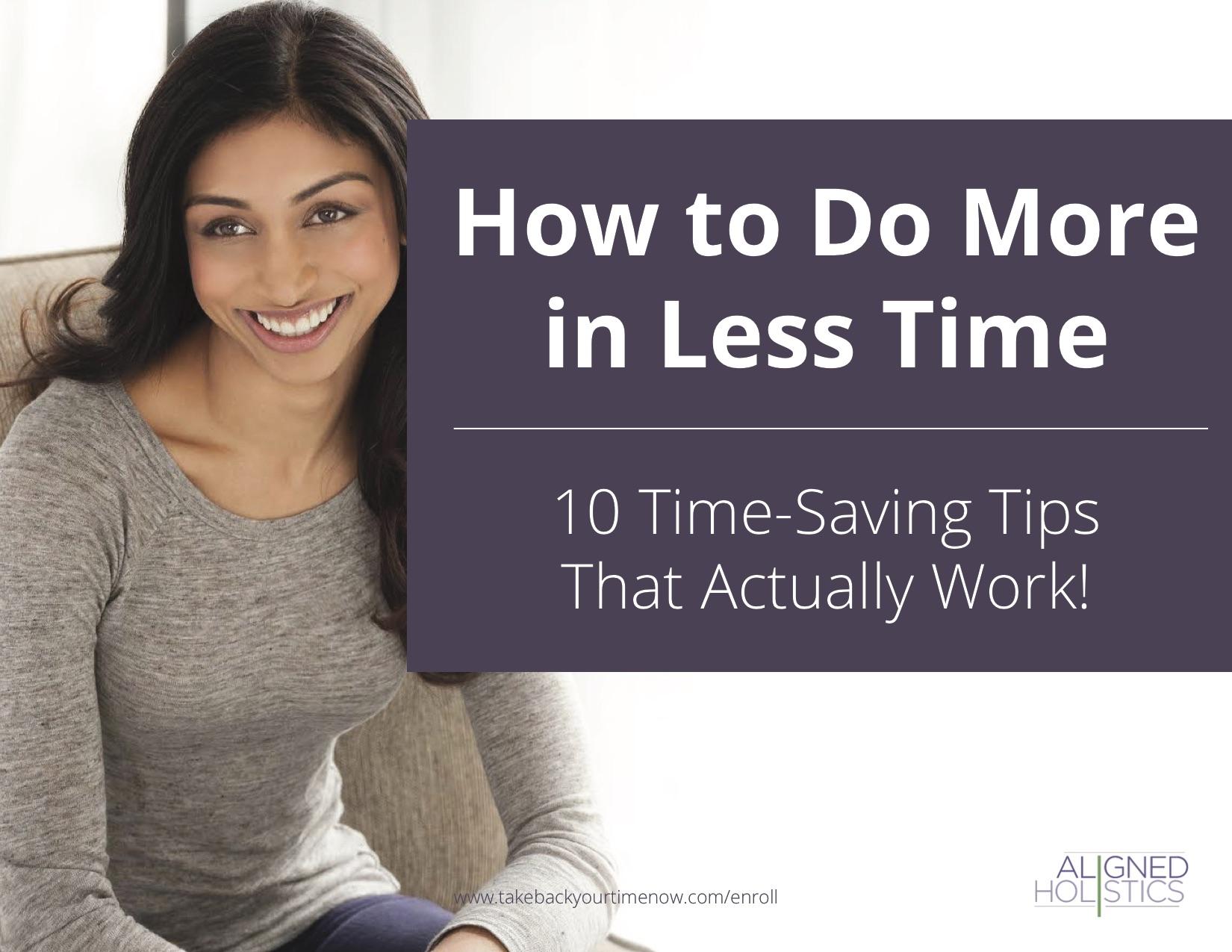 TimeSavingTips