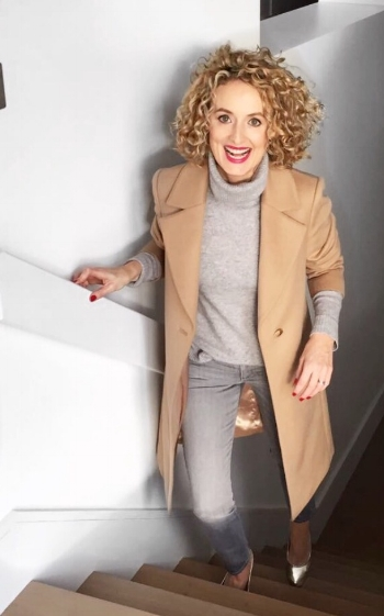 Camel Coat from Jaeger ( click here ) Jeans from Zara, Polo from Bloomingdales ( click here )
