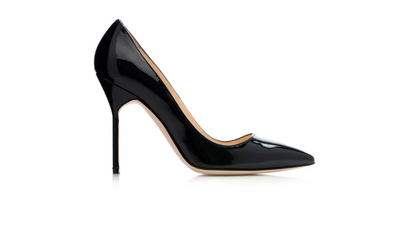 Black Patent Pointy Pump