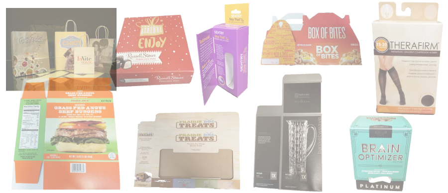 Folding Carton & Packaging - Straight Line - Auto Bottom - 4/6 Corner - Specialty - Windowing - Handle Bags - Pinch Bottom Bags
