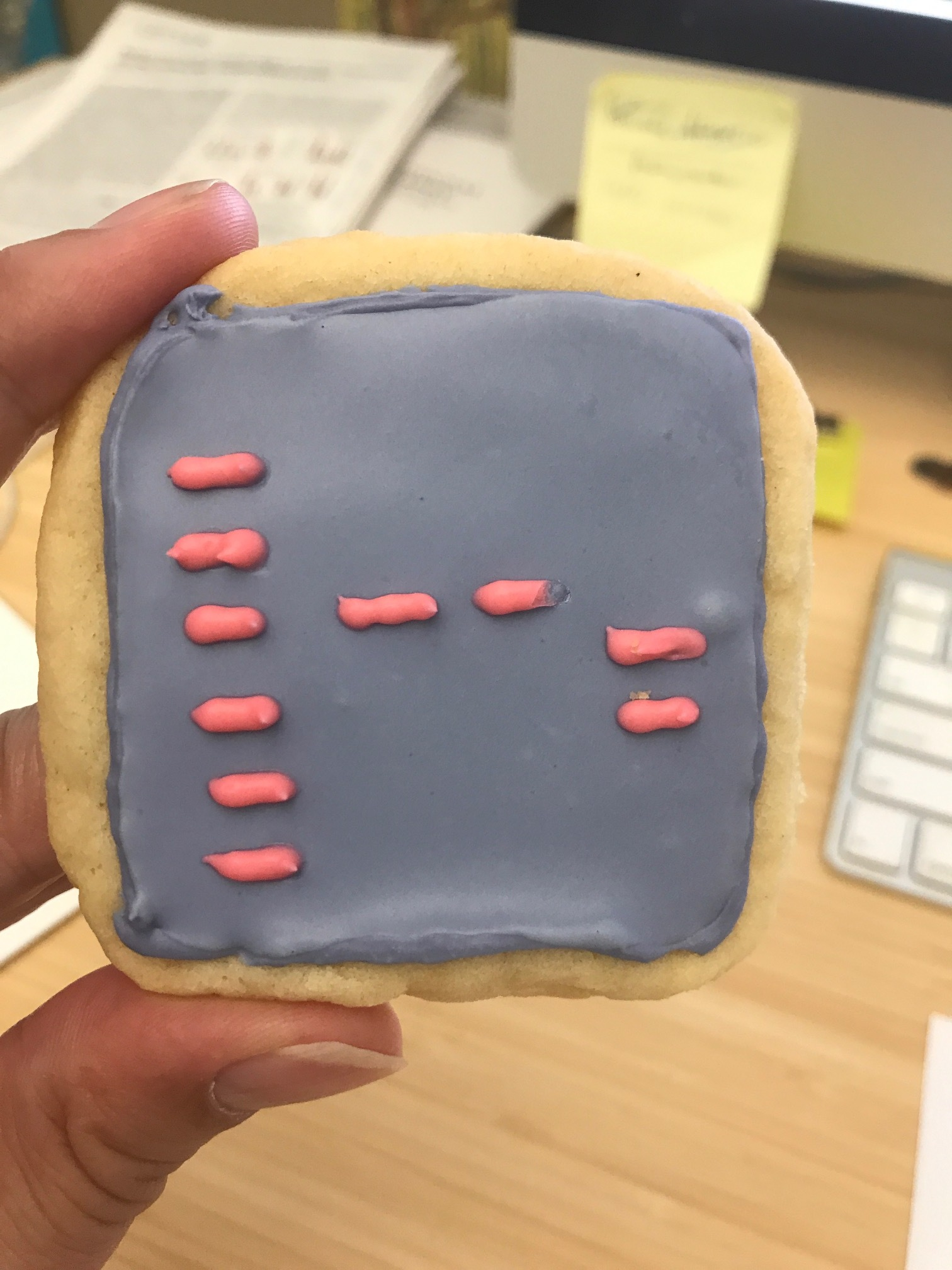 A gel cookie. Sample #3 looks correct. - Spotted in the lab, May 26, 2017