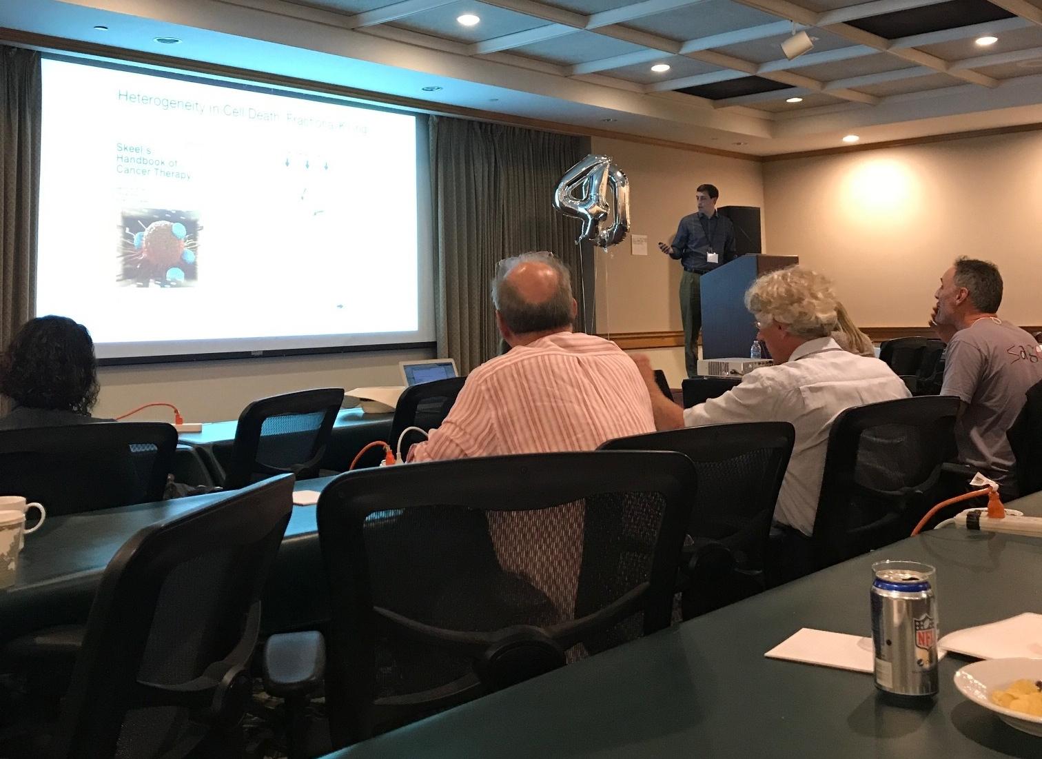 Zintis presents his work - Stanford Cancer Biology Retreat, San Jose, 16 Sep 17