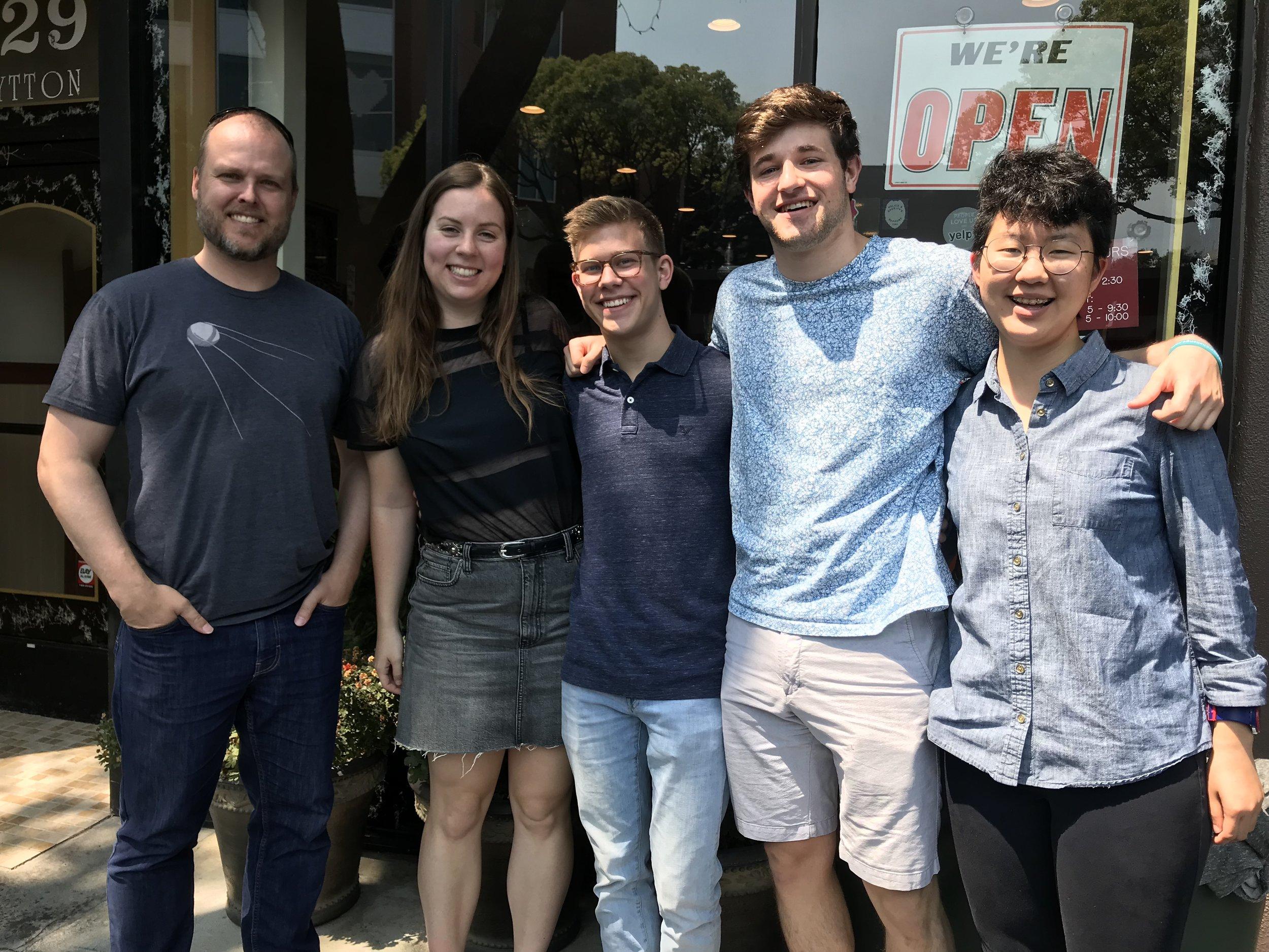 We'll miss our 4 great summer undergrads! - 27 August 18