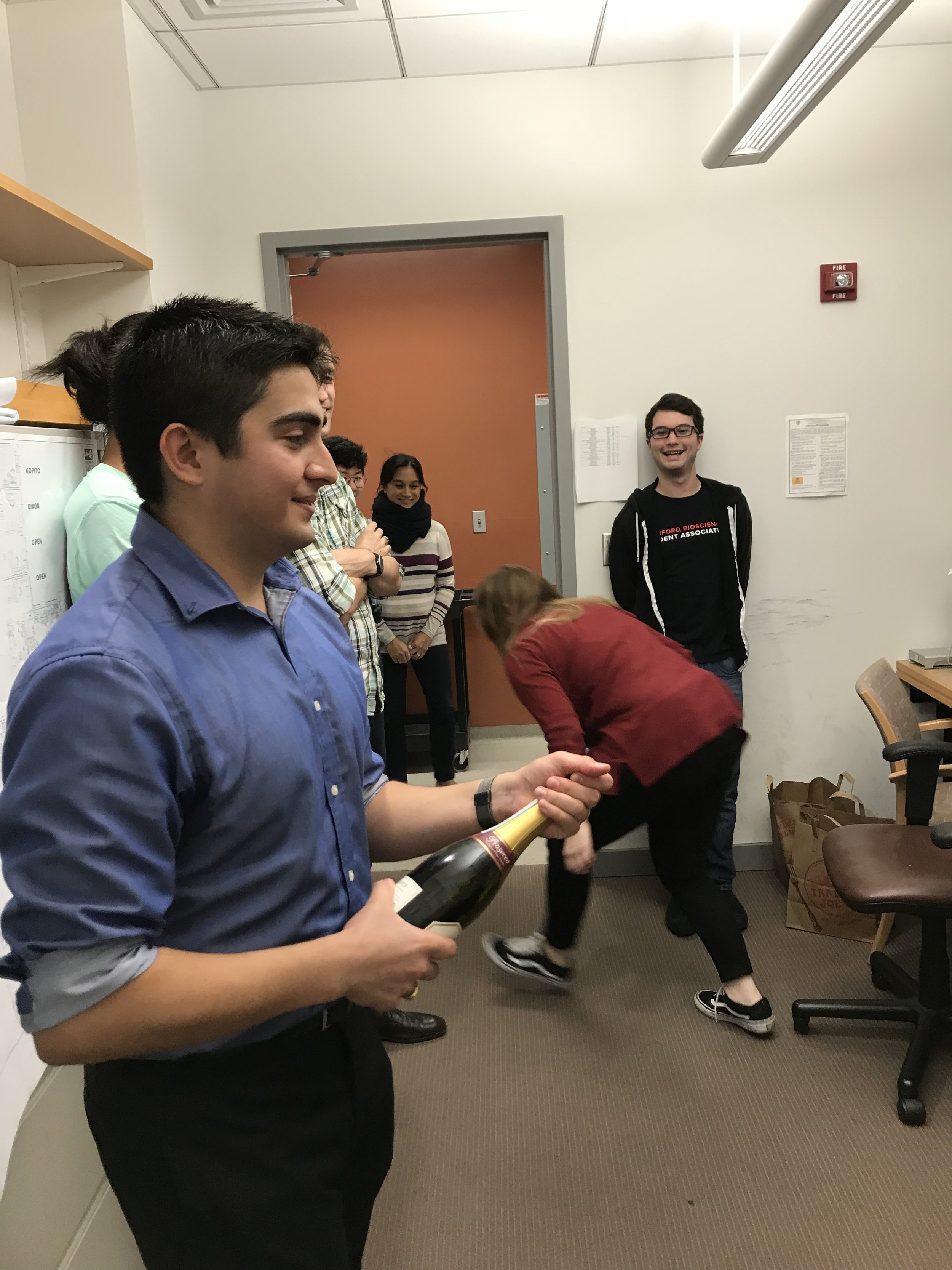 David successfully completes his Ph.D. qualifying exam. Congrats to David! - 2 November 18