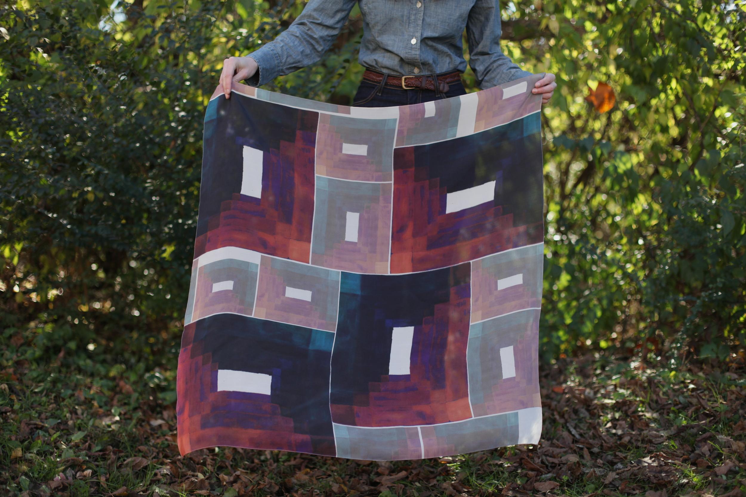 Kaleidoscope Scarf by inks+thread