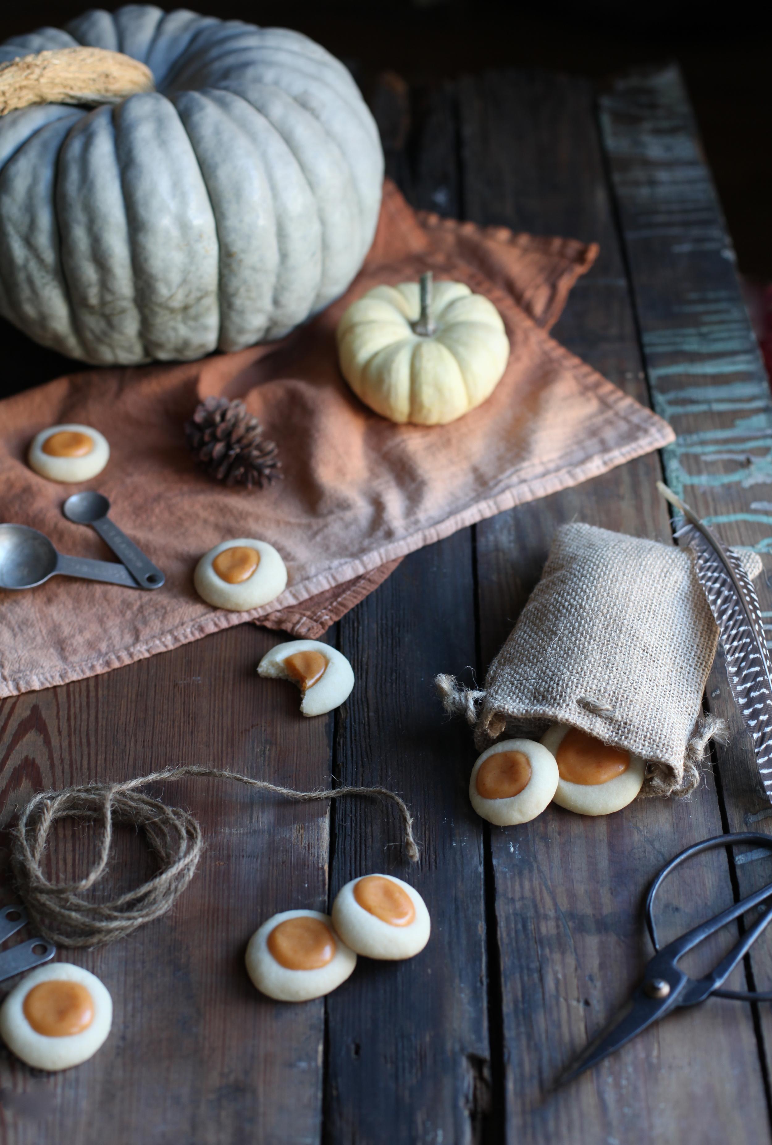 pumpkin pie thumbprint cookies by Maggie Pate