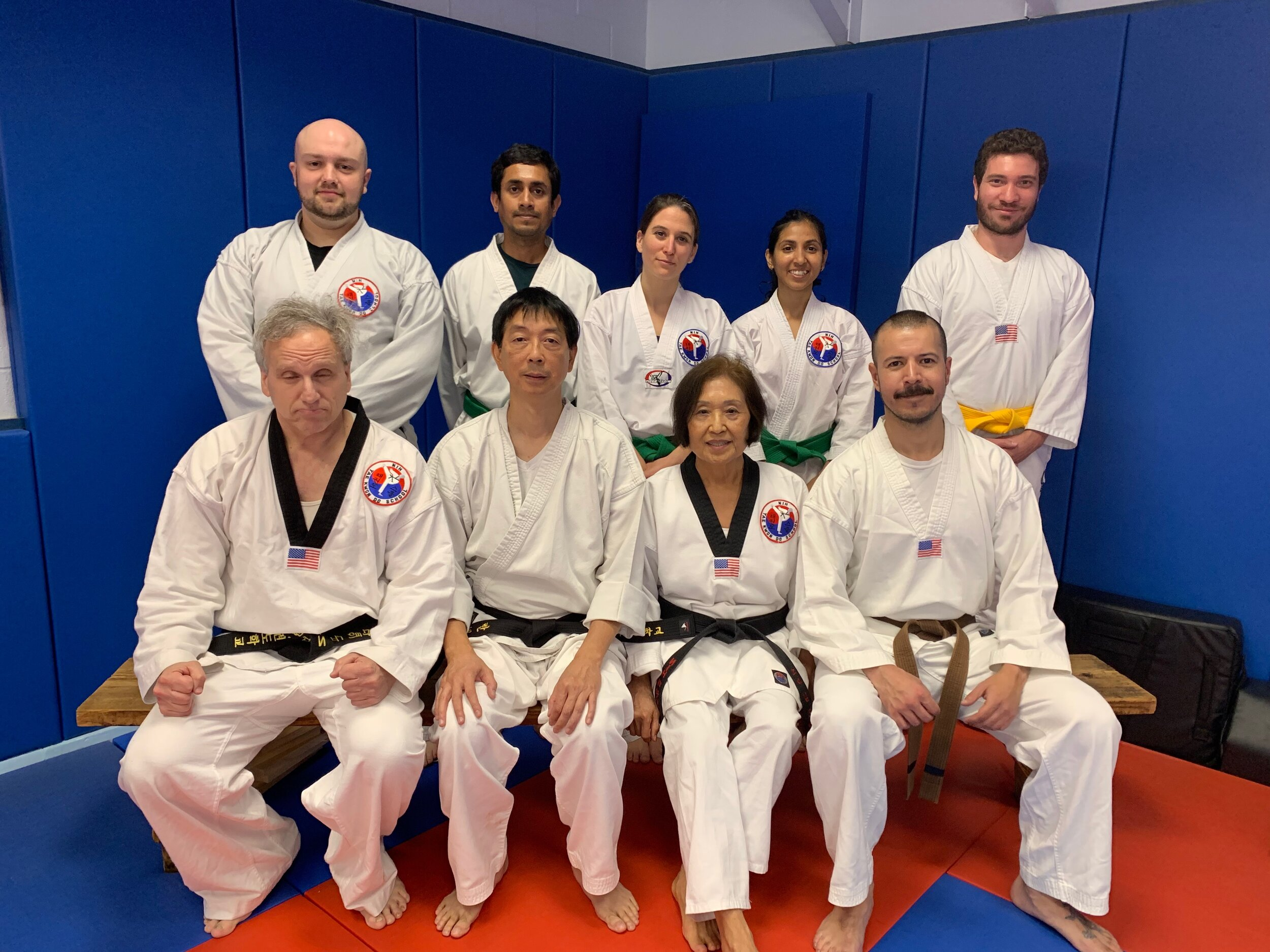 Congratulations to NIH TKD students Laurie Lannes, Ben Fadl, Ray Subhasis, and Dinuka De Sliva for successfully meeting the requirements for the  Blue Stripe  exam on Wednesday, September 11th, 2019.. Congratulations to NIH TKD student Daniel da Silva for successfully meeting the requirements for the Gold belt exam.