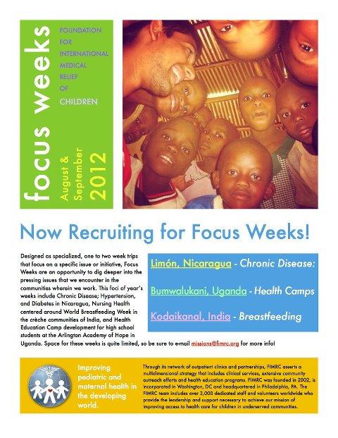 FIMRC Focus Weeks Picture