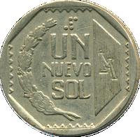Peru One Nuevo Sol Coin.png
