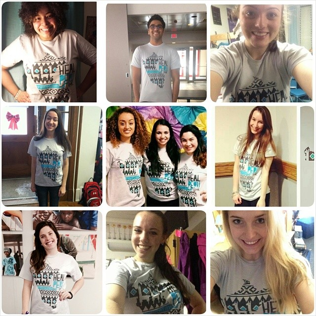 Donors from around the country in their Heal Peru t-shirts