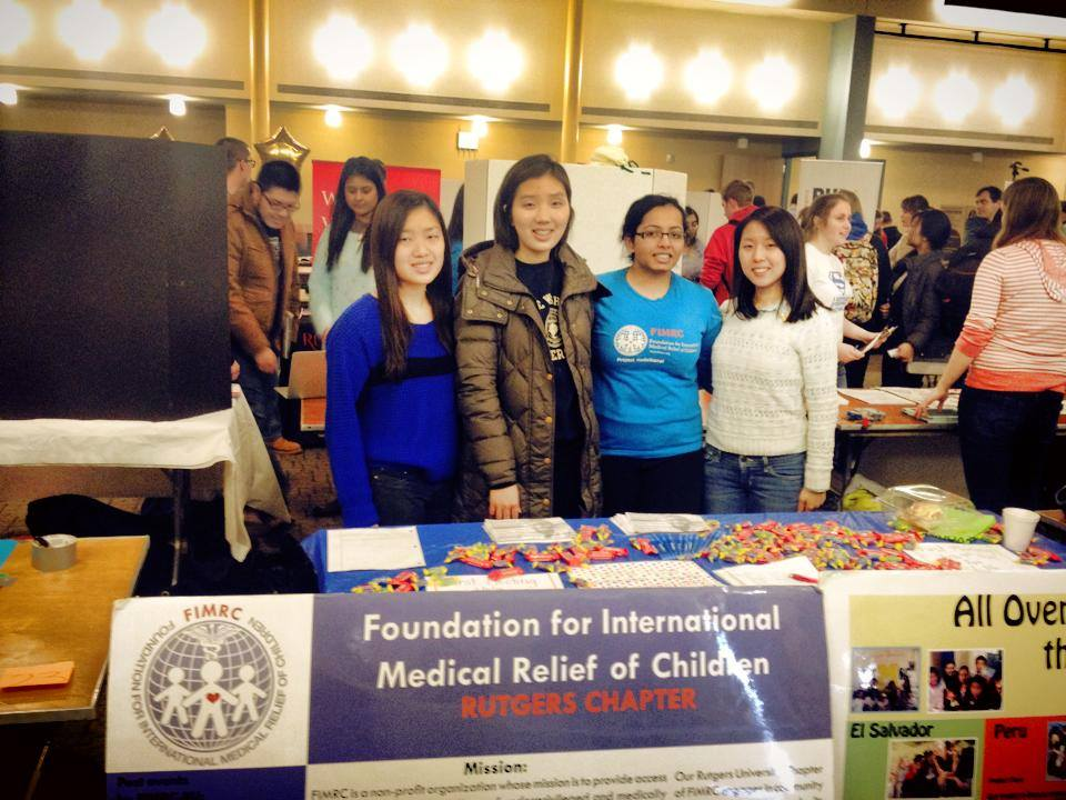 Rutgers FIMRC promoting their Chapter