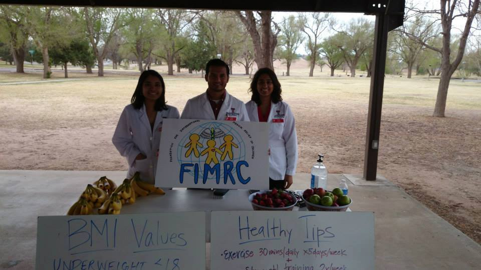 TTUHSC-SOP teaching healthy habits at a 5K