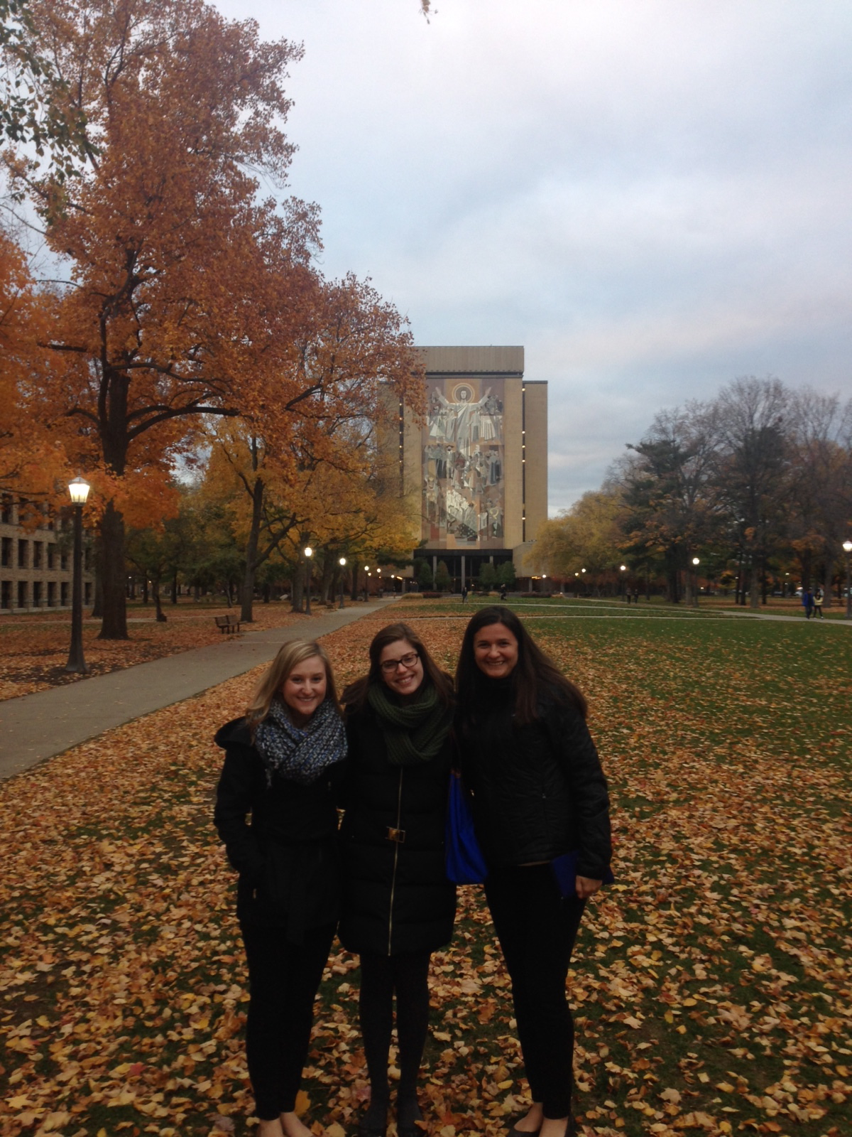 With the entire HQ team (yes, there's only three of us!) during Chapter Tour visiting Notre Dame!