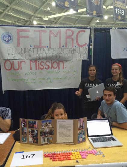 Notre Dame FIMRC at their organization fair