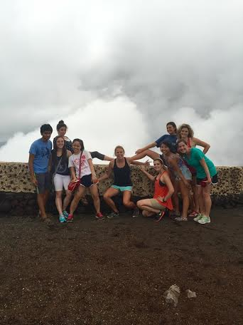 During a weekend excursion - exploring a local volcano!