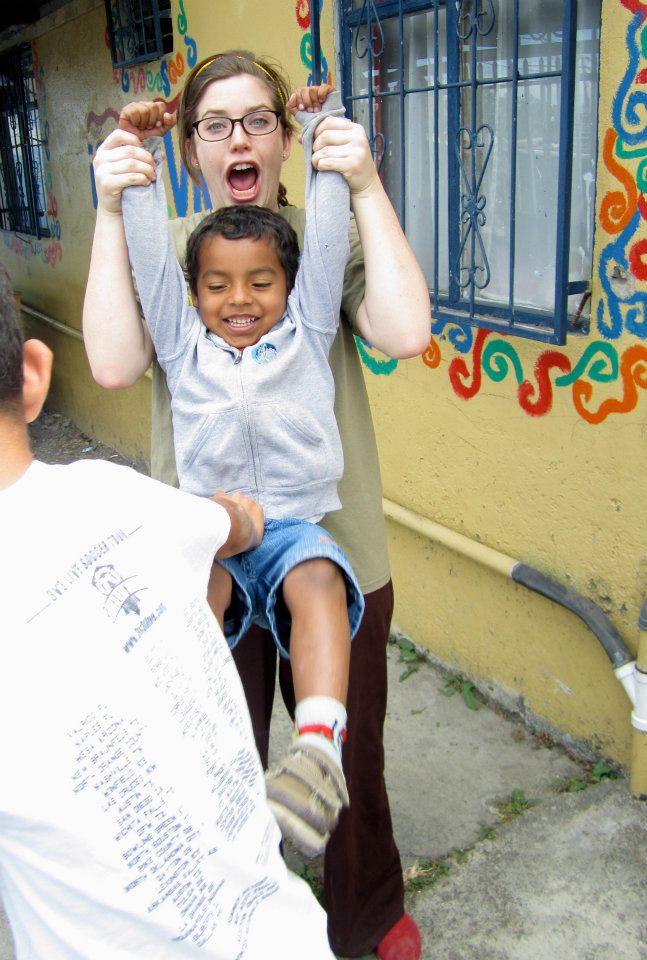 Abi on her volunteer trip to Costa Rica in 2012
