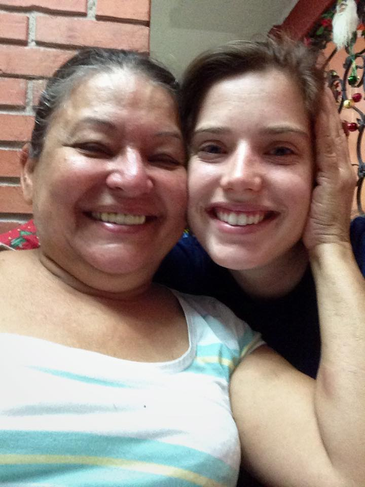 Abi and her host mom Ana on her most recent trip to Project Alajuelita!