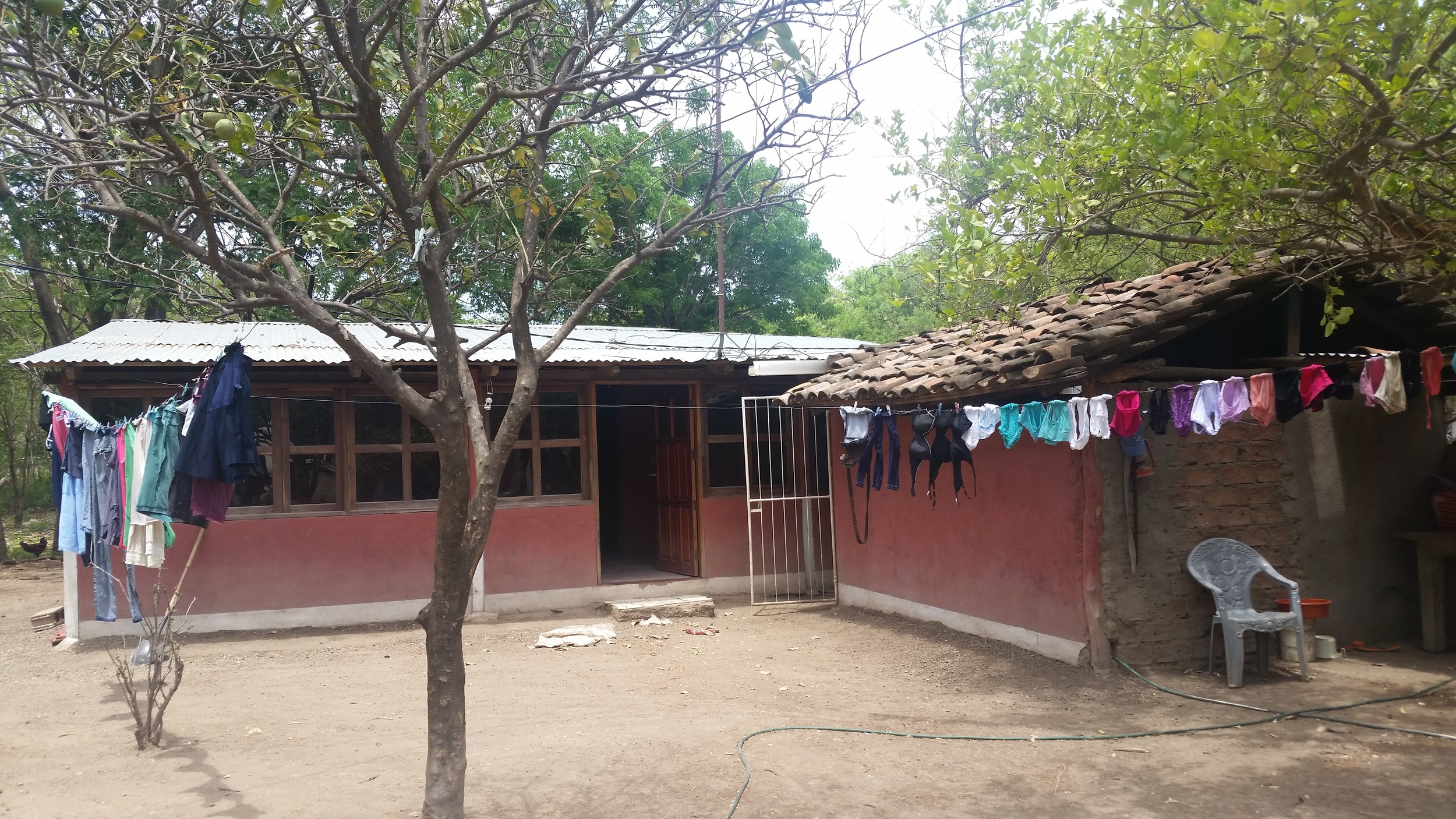 A typical home in Limón.