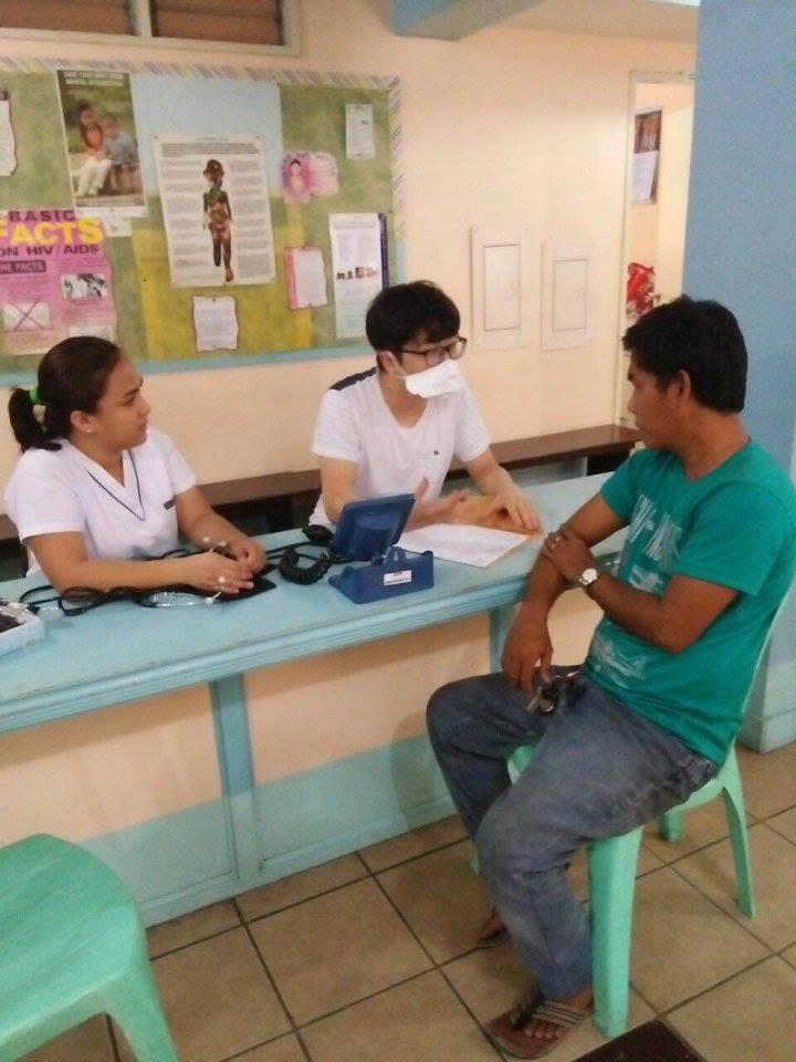 SIHF Philippines  Patient intake at Canossa Health Center in Manila.