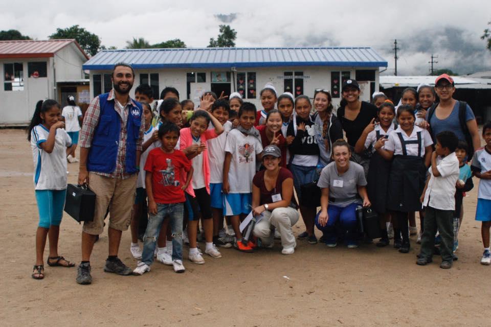 SIHF La Merced, Peru  Fellows at Pichanaki School with Field Officer, Daniel Correa.