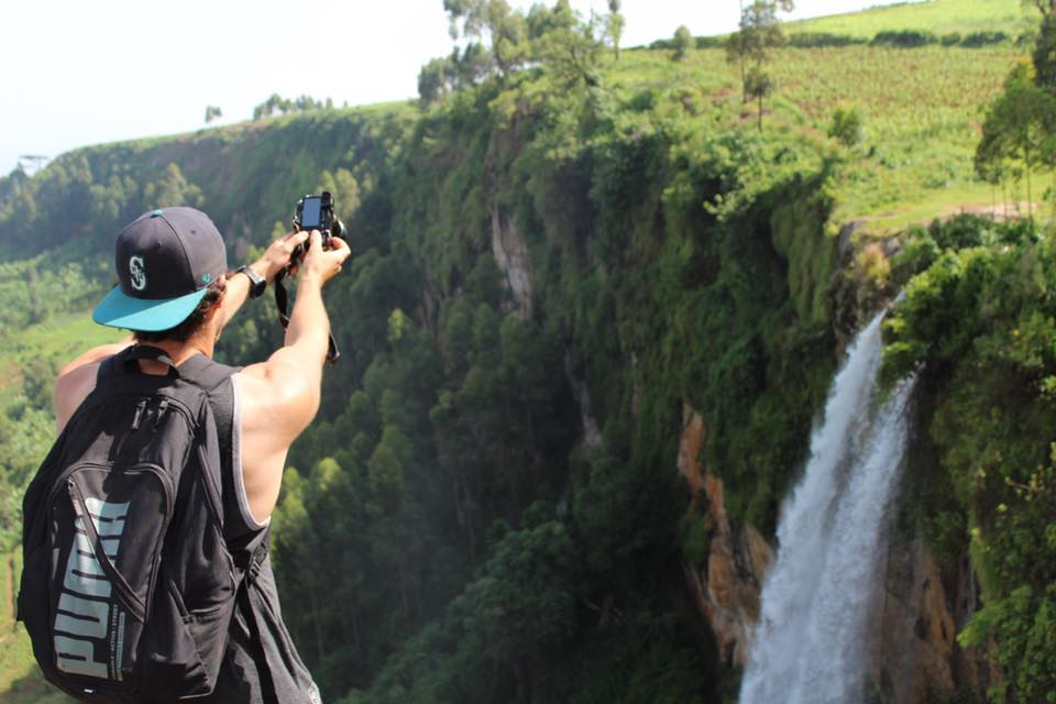 Fellow Brennan Frost captures a photo of Sipi Falls in eastern Uganda.